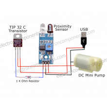 DIY - Automatic Sanitizer Dispenser Kit - Tested & Verified (Hygienic touch free model - Circuit design included in picture)