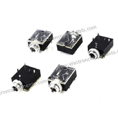 5pin 3 5mm Stereo Socket Pcb Mount Switch With Nut Buy