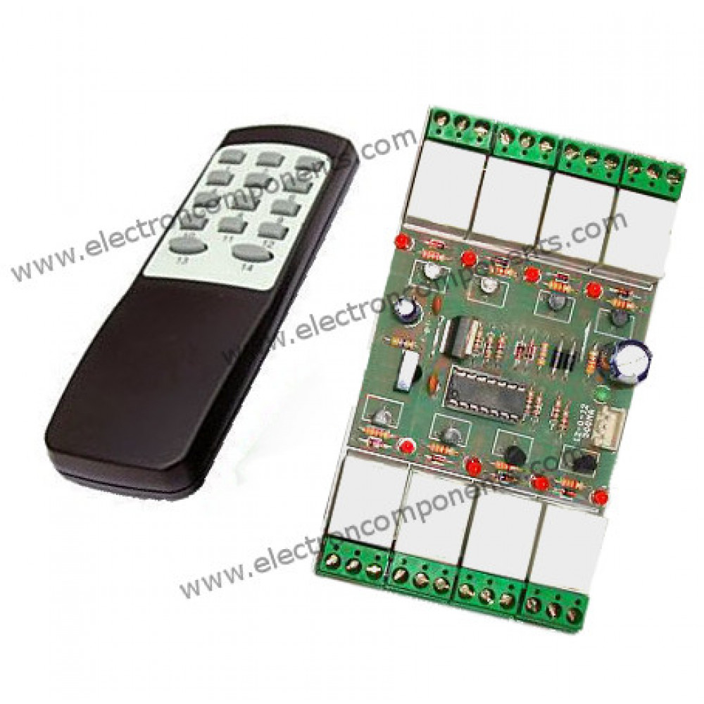 8 Channel Relay Board with IR Remote control