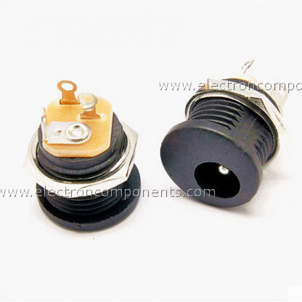 DC Socket Connector round Chassis / Panel Mounting with nut
