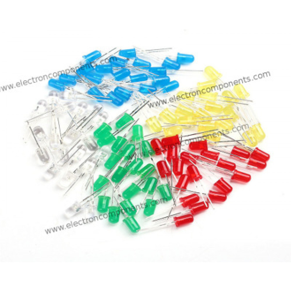 Group of 10 Types of LEDs (50 nos)