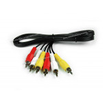 3RCA to 3RCA cable - Stereo Audio Video : 1.5m (High quality)