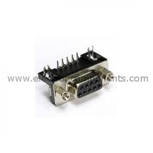 DB9 Female Right angle Connector (9 pin) [PCB Mount] : Buy