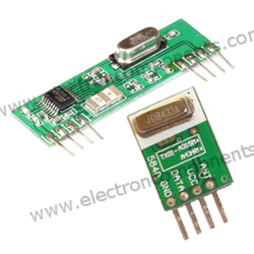 RF Transmitter & Receiver - 433 MHz (ASK)